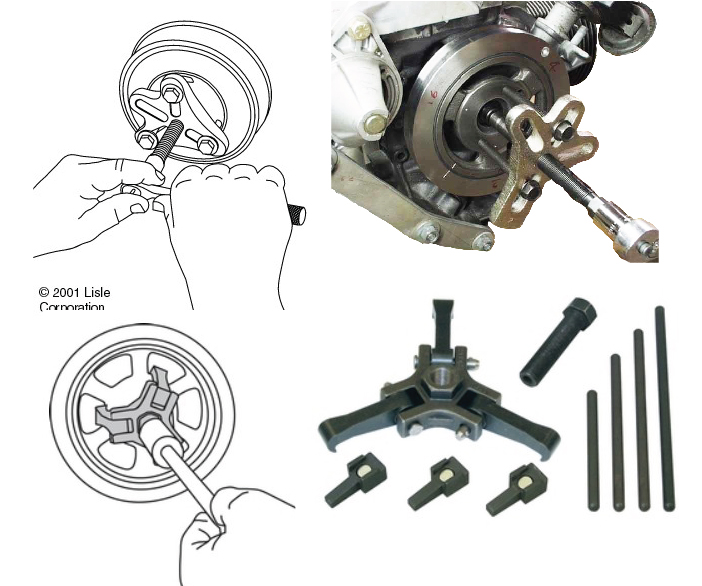 crankshaft holdlng tools