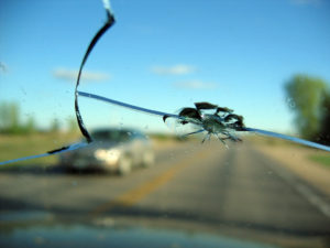 crack in drivers line of sight