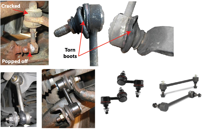 image of old and new sway bar end links