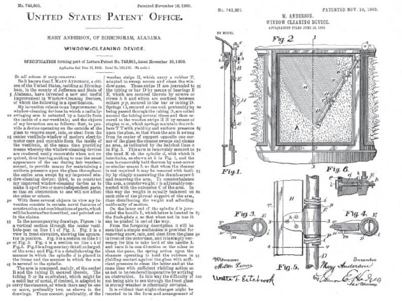windshield wiper patent