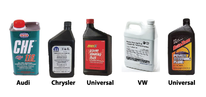 use the right power steering fluid for your vehicle