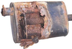 rusted muffler