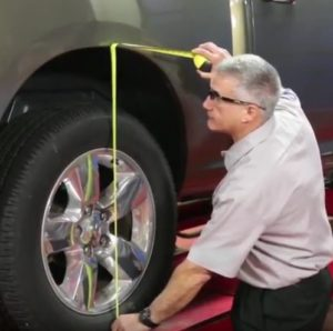 measure vehicle ride height before replacing strut assembly