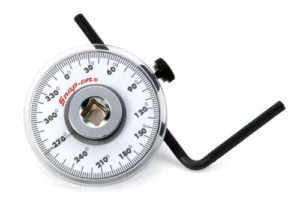 Use a torque angle gauge for torque to yield bolts