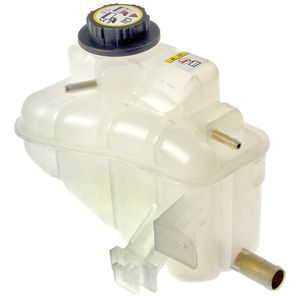 coolant recovery tank with pressure cap