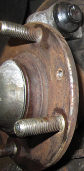rust on wheel hub