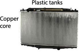plastic copper car radiator
