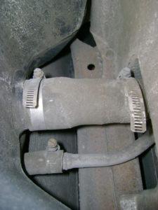 fuel tank filler neck and fuel pump