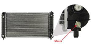 radiator drain valve location