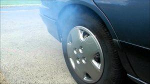 brakes smoke