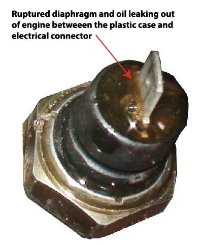 leaking oil pressure sensor