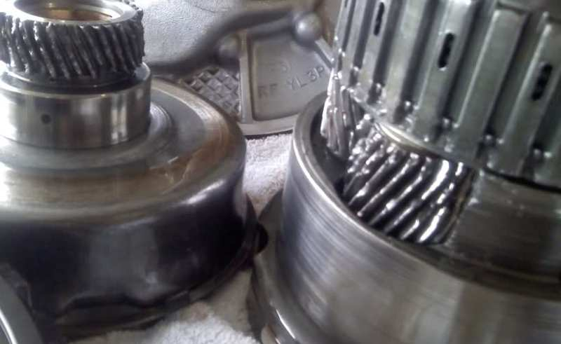 metallic shaving on a transmission magnet