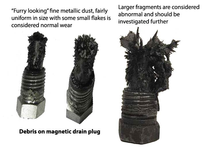 particles on magnetic drain plug