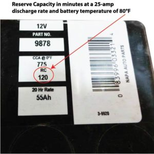 battery reserve capacity