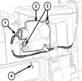defrost mode door actuator