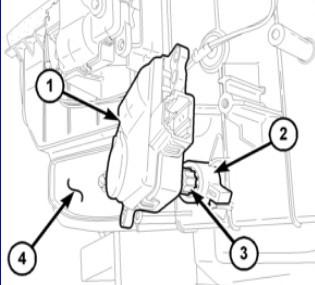 mode door actuator