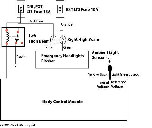 gm daytime running lights don\u0027t work \u2014 ricks free auto repair advicedaytime running lights wiring diagram