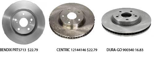 brake rotor prices
