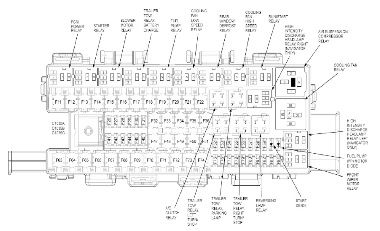 2002 Ford Expedition Relay Diagram Hvac | Wiring Diagram