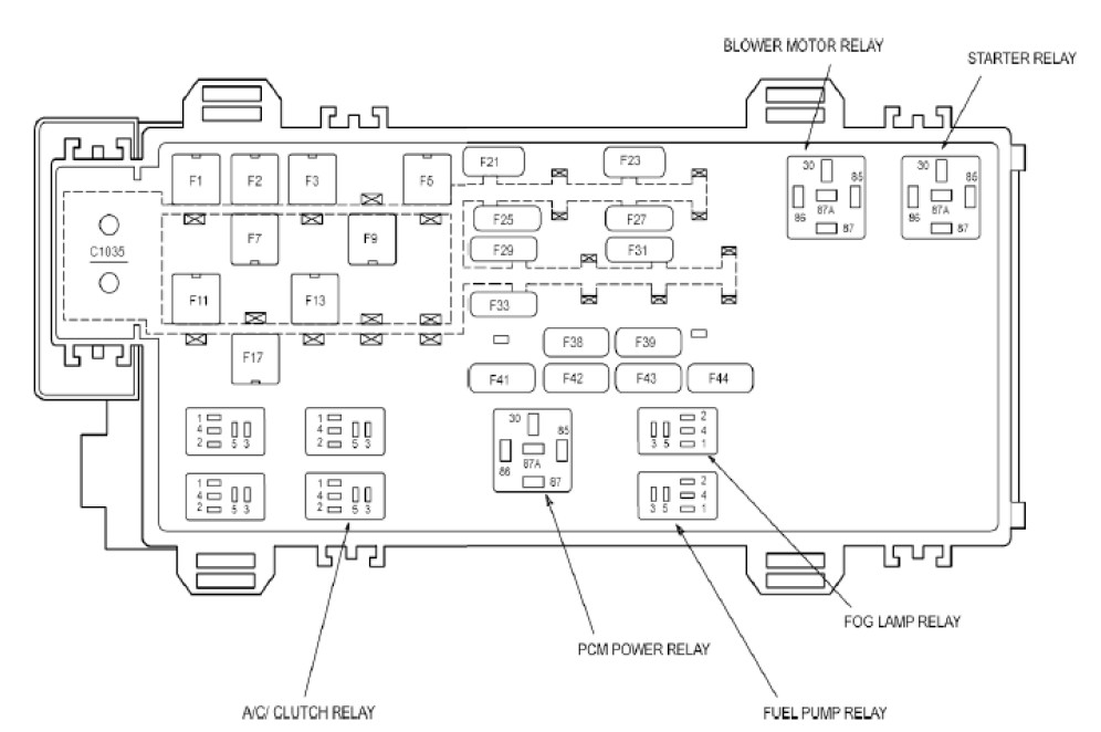 DIAGRAM 2004 Ford Ranger Obd Fuse Box Diagram FULL ...