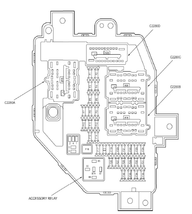 2010 Ford Ranger Fuse Diagram