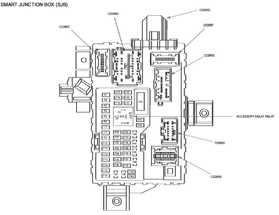 2010 Ford Fusion Interior Fuse Box Diagram