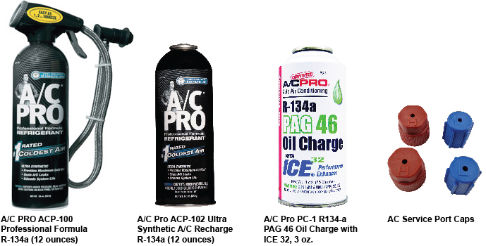AC R-134a refrigerant recharge kit