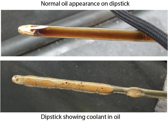 headgasket failure, yellow gunk on dipstick