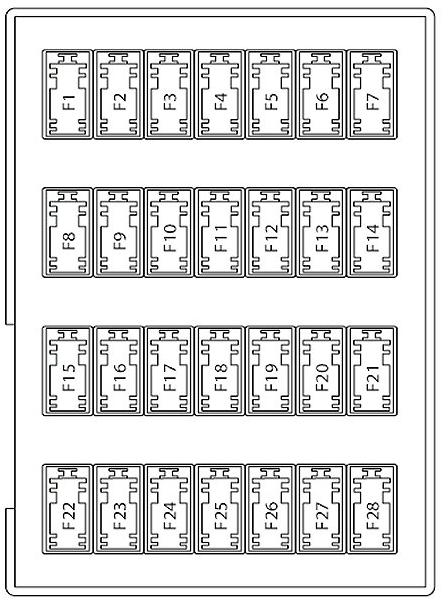 Diagram  2010 Ford Fusion Interior Fuse Box Diagram Full