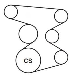 serpentine belt diagram