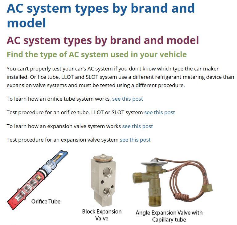 AC orifice tube or expansion valve