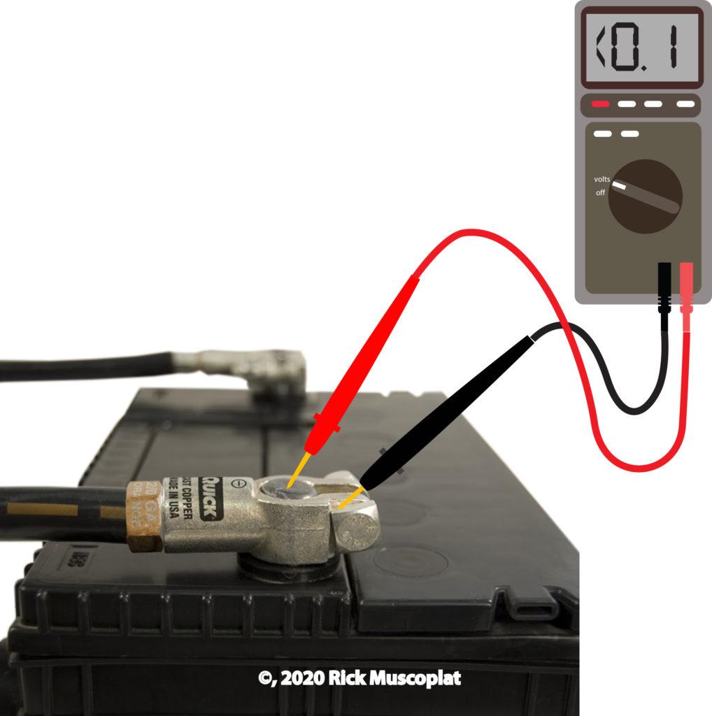 battery voltage drop test