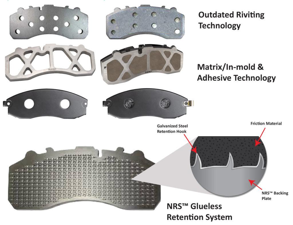 brake pad attachment technology