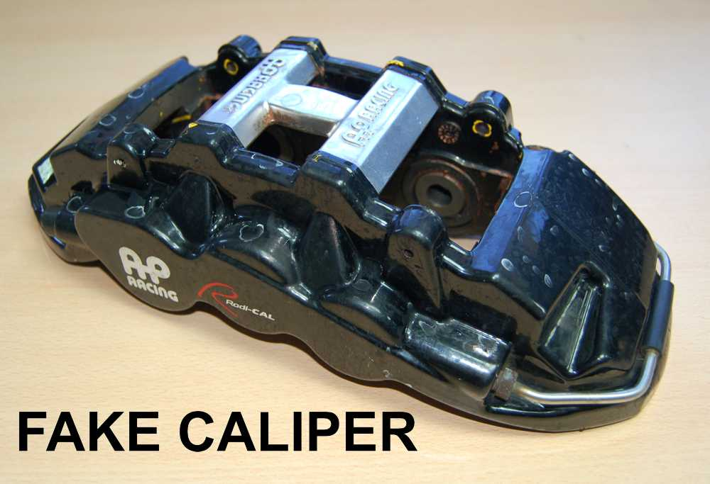 fake brake caliper