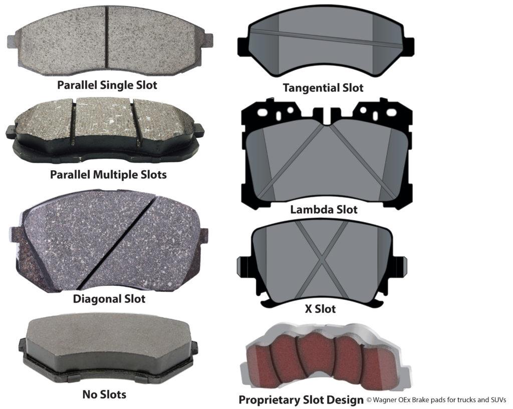 Brake pad slots