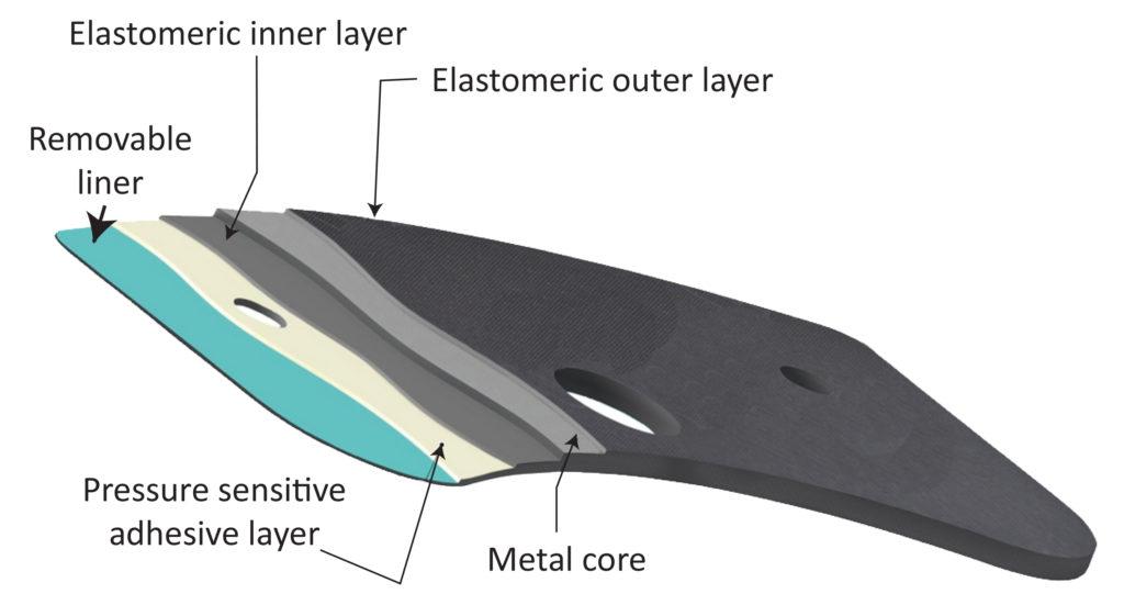 multi-layer brake pad shim