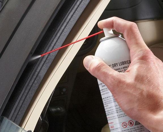 lubricate car window