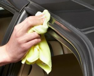 lubricate car door weatherstripping