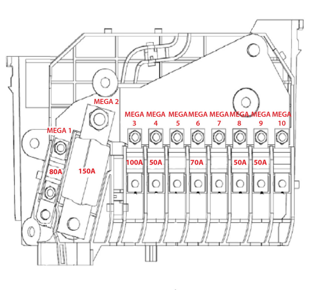 2012 Ford Focus Fuse Diagram Hight Current Battery Junction Box