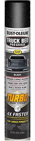 Rust-oleum Turbo Truck Bed Pro Grade Aerosol truck bed liner