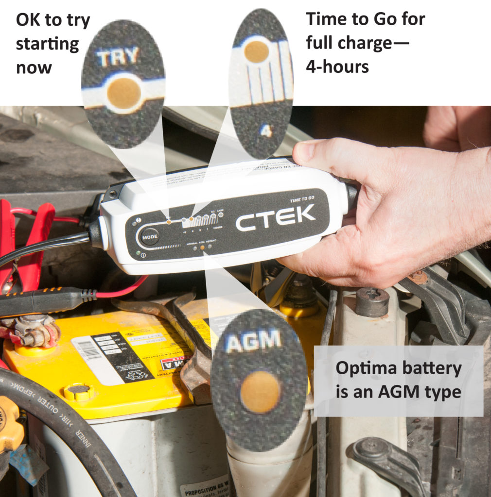 ctek time to go battery charger