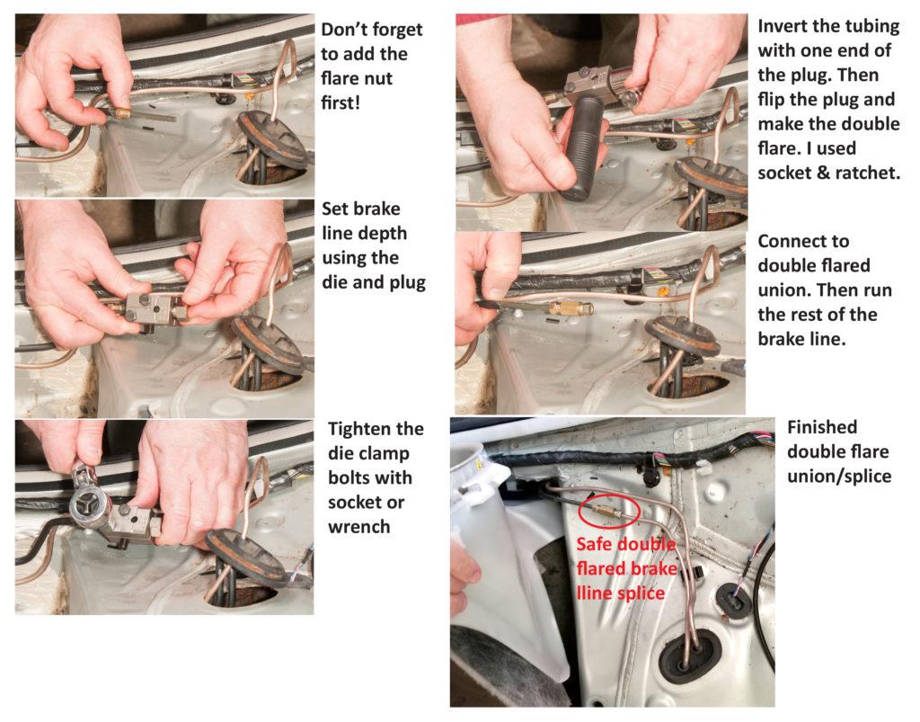 back seat brake line splice finished