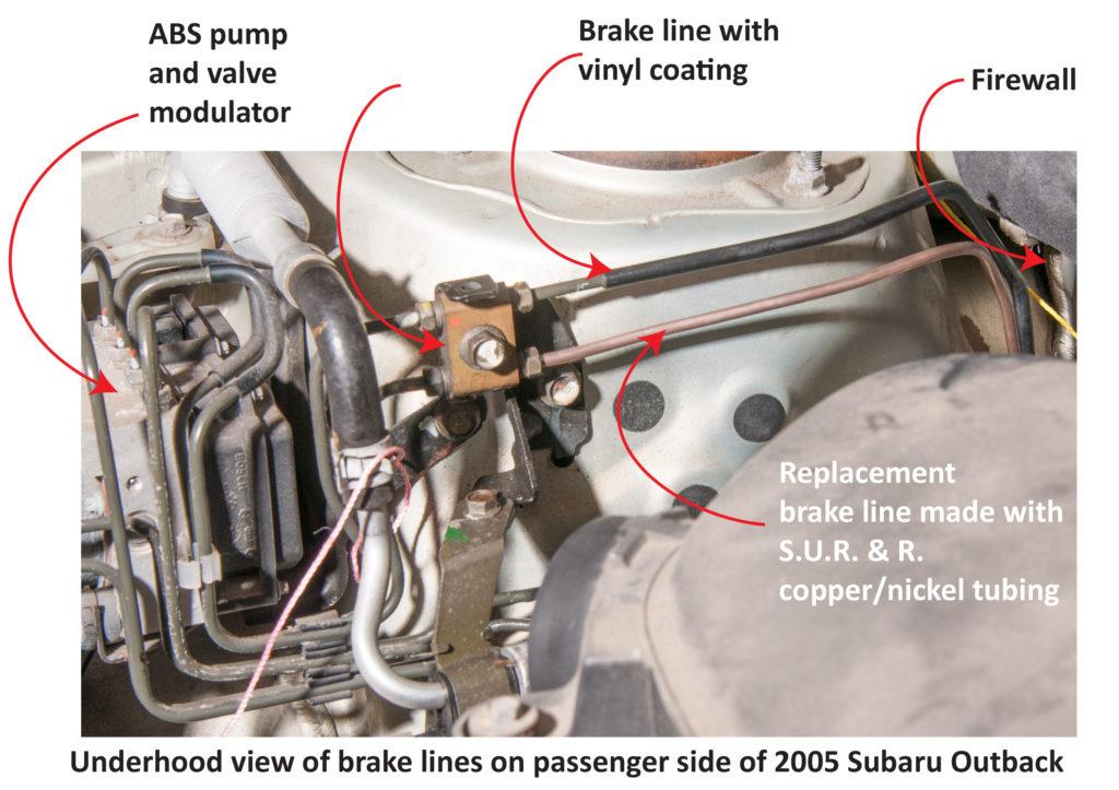 subaru rusted brake lines underhood