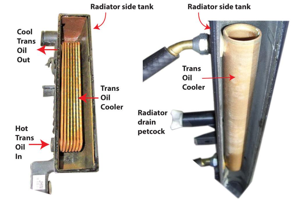 transmission oil cooler in radiator