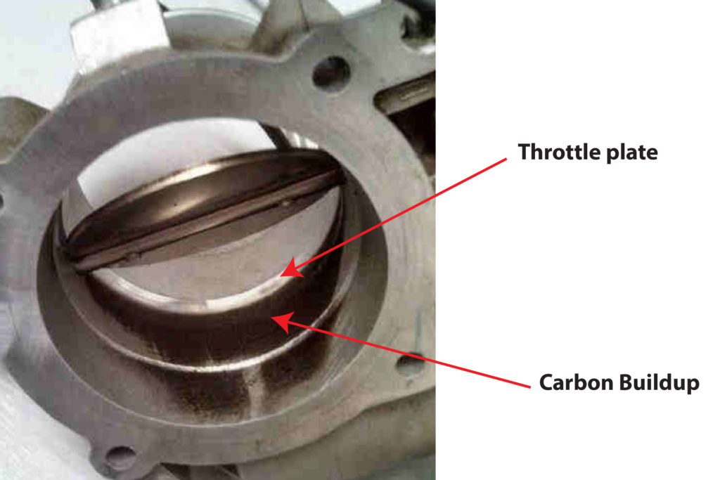 VW P0106 cause is carbon buildup in throttle body