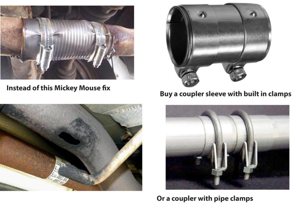 exhaust leak fixes