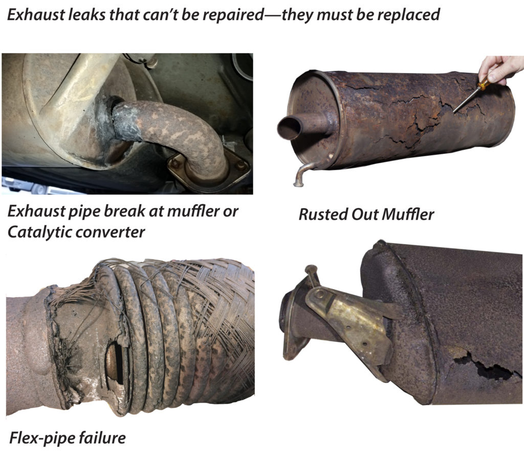 non repairable exhaust leaks