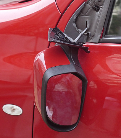 broken side view mirror