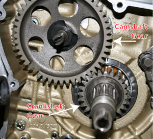 engine with timing gears