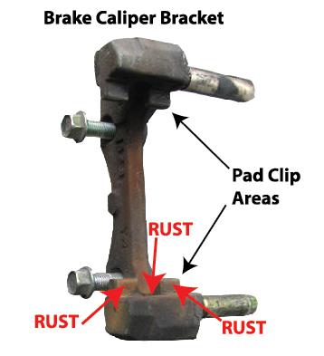 seized brake pad